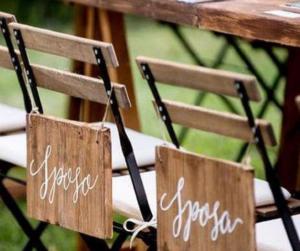 wedding sign targhe legno